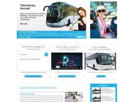 nº 15 pour Design a Website and inside pages Mockup and Logo for Bus Rental Company par conceptcit