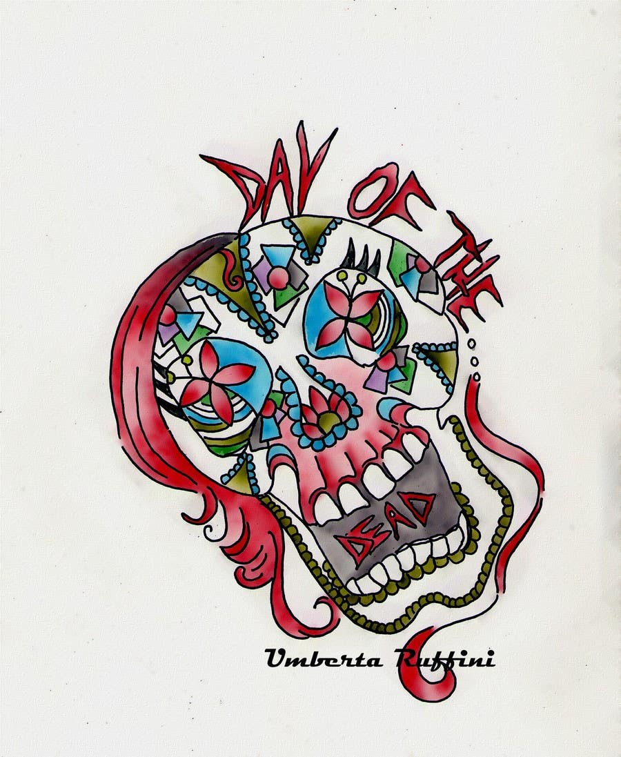 #22 for Design a T-Shirt for day of the dead by umby