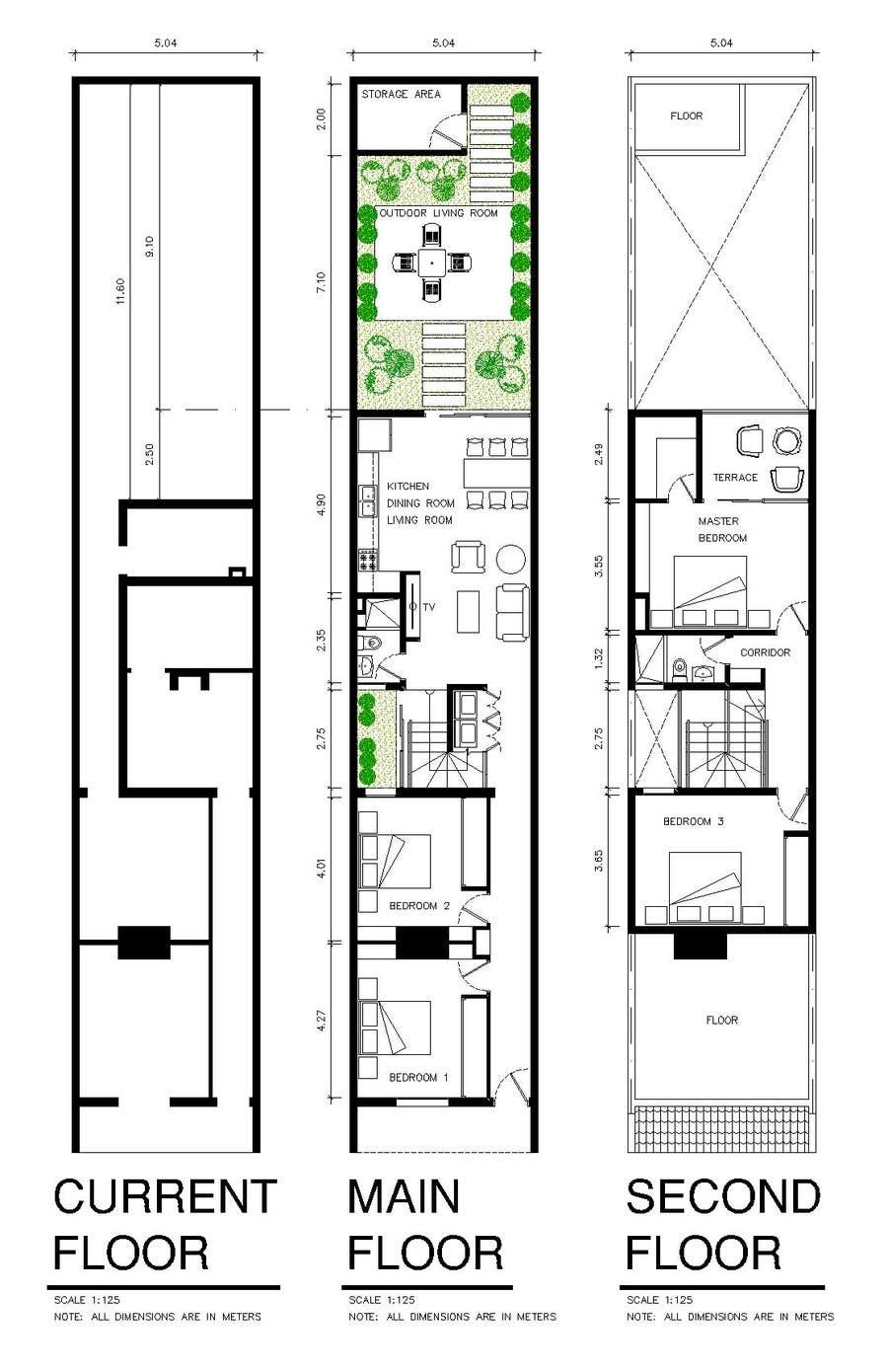 Entry 14 By Arqddcc For Victorian Terrace Floor Plans
