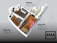 3D Modelling Contest Entry #10 for Floor Plan for a flat