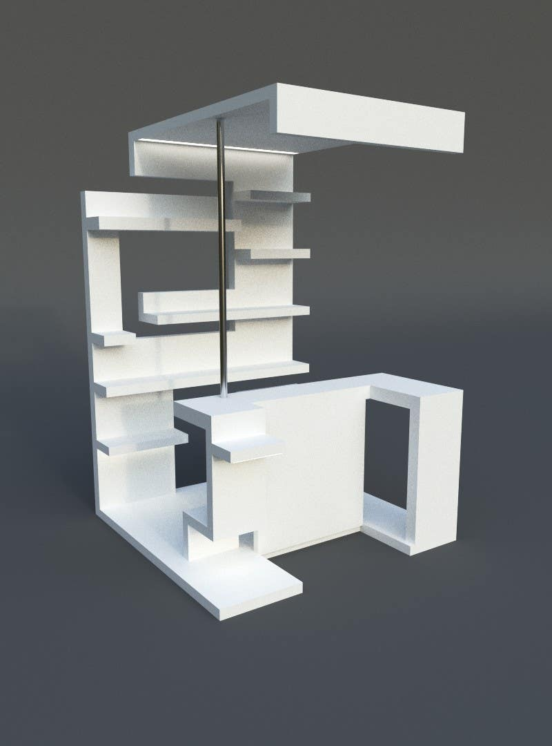 Contest Entry #                                        6                                      for                                         Do some 3D Modeling for a moveable exhibition stand design