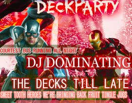#15 for Super Hero Deck Party - A2 Poster/DL Flyer/FB cover photo by jeevazartz