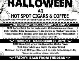 #5 untuk Halloween Flyer annoucing specials for Cigar/Hookah Lounge oleh cristiandmt