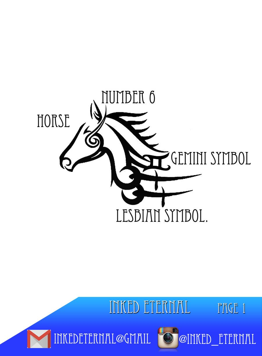 Gemini animal symbol image collections symbol and sign ideas entry 18 by chenchoz for tribal tattoo design freelancer contest entry 18 for tribal tattoo design biocorpaavc