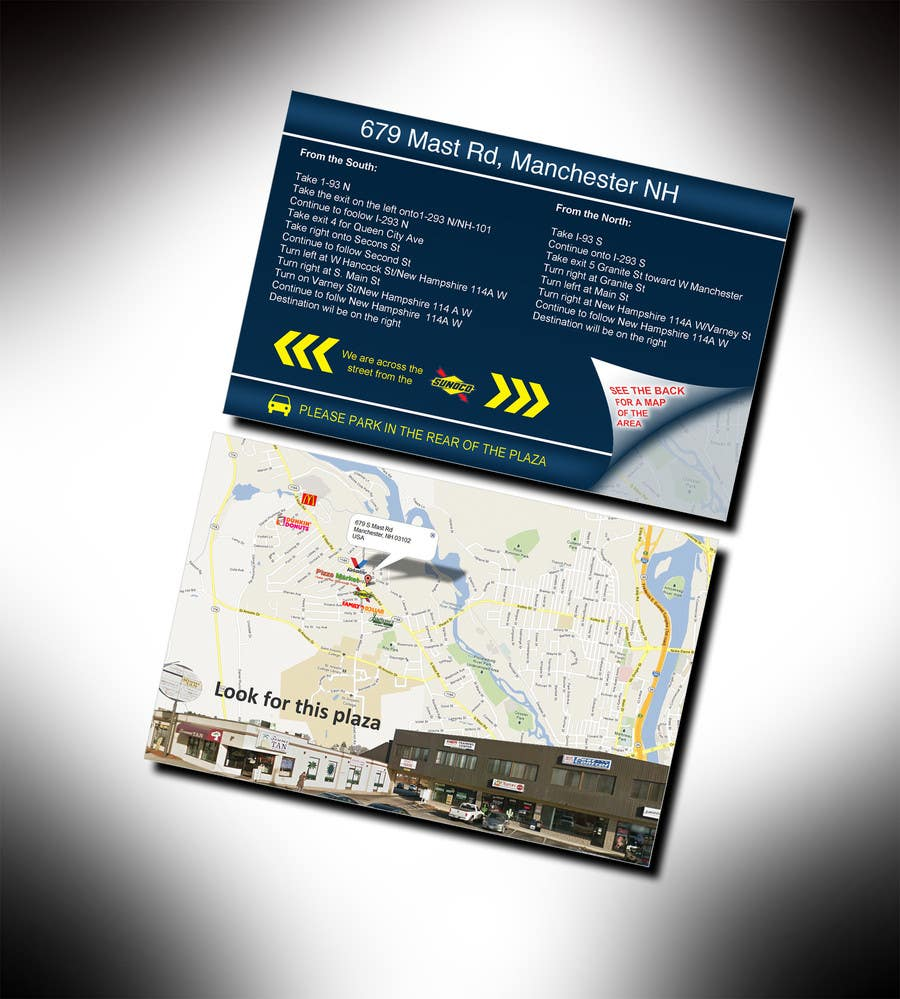 "#5 for Create Print and Packaging Designs for Driving Directions 2 Sides 5.375"" x 8.375"" finished size by bhoyax"
