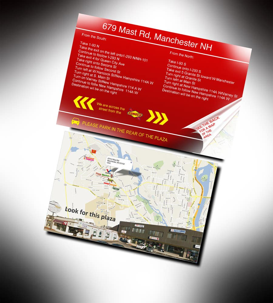 "#6 for Create Print and Packaging Designs for Driving Directions 2 Sides 5.375"" x 8.375"" finished size by bhoyax"