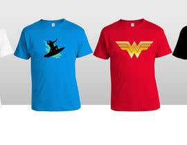 Spreado tarafından Design four T-Shirts in super-hero theme için no 7