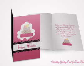 nº 15 pour Design some Stationery for a Wedding Greeting Card - repost par DanaDouqa