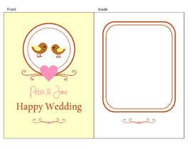 nº 32 pour Design some Stationery for a Wedding Greeting Card - repost par rakhmakurnia