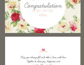 nº 30 pour Design some Stationery for a Wedding Greeting Card - repost par cherrycherrie
