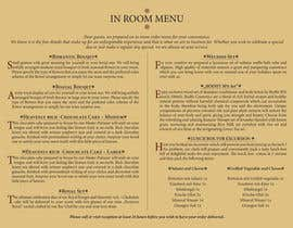 #7 for Design In Room Menu for Hotel by mircislav