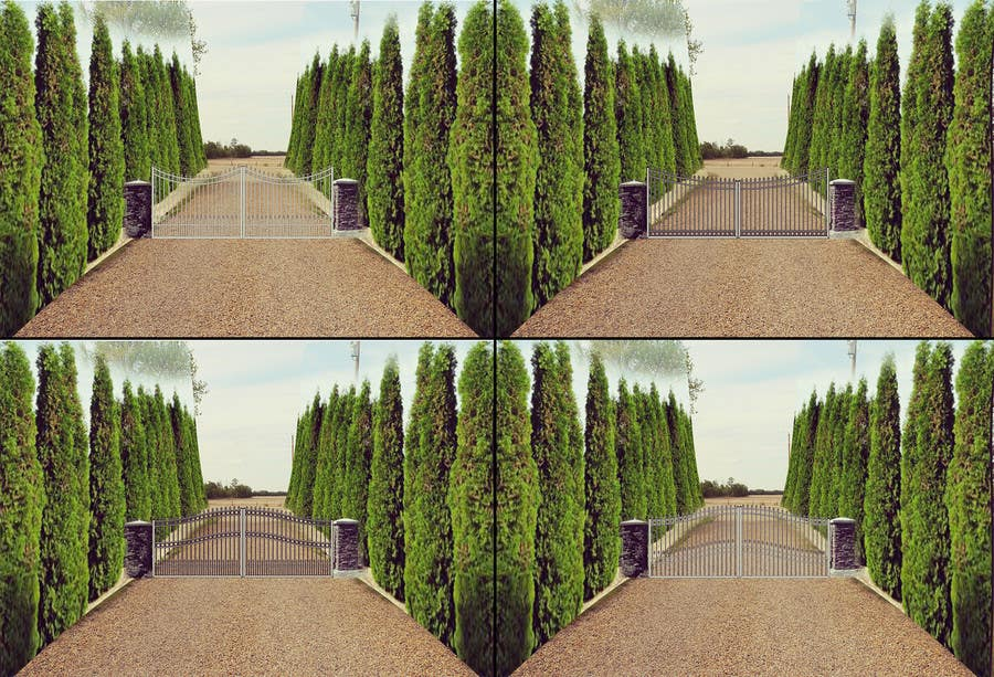 Contest Entry #                                        8                                      for                                         Driveway Gate Design Photoshop