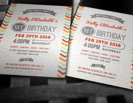 #17 for Design some Stationery for Baby 1st Birthday Invitation by Zeshu2011
