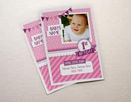 #22 for Design some Stationery for Baby 1st Birthday Invitation af agustina25