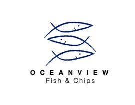JNowakDesign tarafından Logo Design for OceanView Fish & Chips için no 22