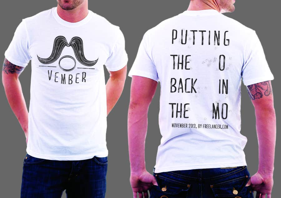 #29 for Design a T-Shirt for MOvember T-shirt Design by ramarowi
