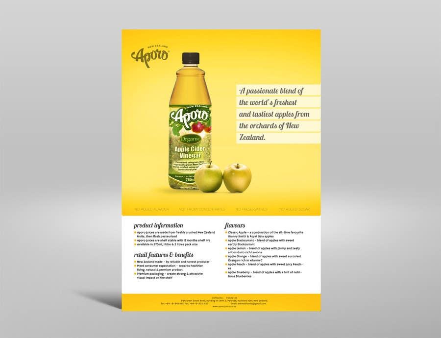 Penyertaan Peraduan #                                        2                                      untuk                                         A4 flyer design for juice