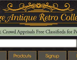 nº 26 pour New Design header for an antique/vintage/retro web site par blackd51th