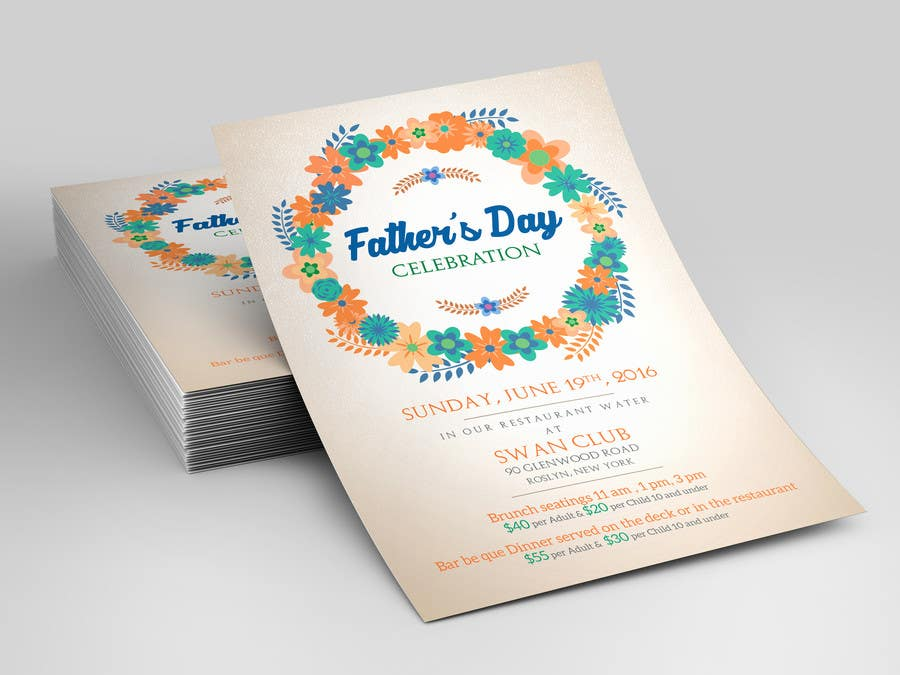 Contest Entry #                                        9                                      for                                         Father's Day Flyer for our Restaurant