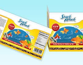 #5 untuk Label Design for Snack Attack - A new Fishfood label oleh ProLV