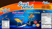 Label Design for Snack Attack - A new Fishfood label için Graphic Design22 No.lu Yarışma Girdisi