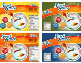 #8 for Label Design for Snack Attack - A new Fishfood label by harjeetminhas