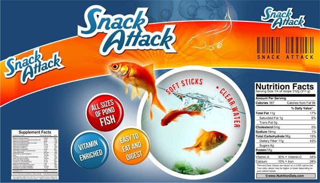 Inscrição nº 7 do Concurso para Label Design for Snack Attack - A new Fishfood label