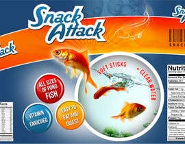 #7 for Label Design for Snack Attack - A new Fishfood label by harjeetminhas