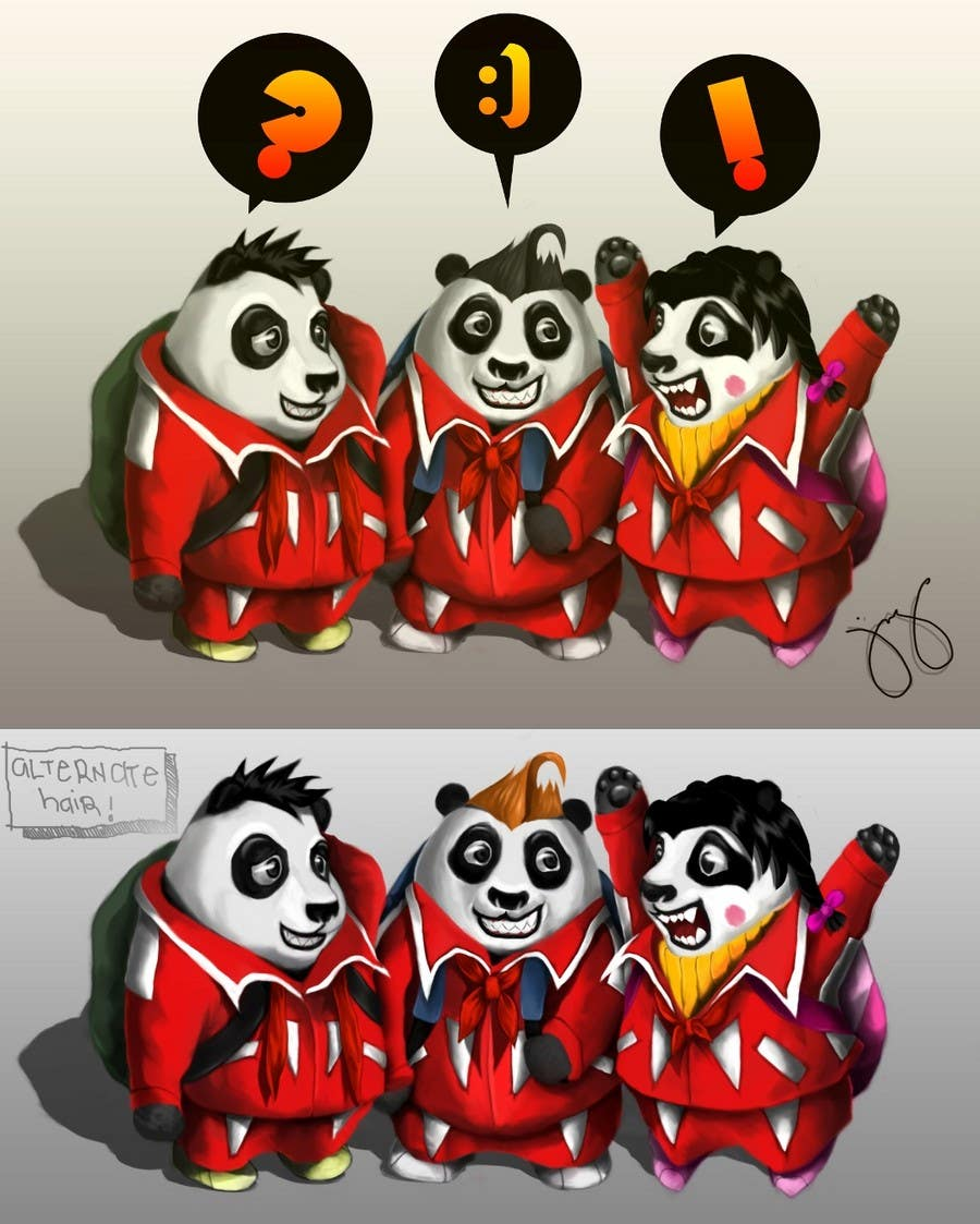Contest Entry #15 for Illustration Design for Animation illustration for Panda cubs.