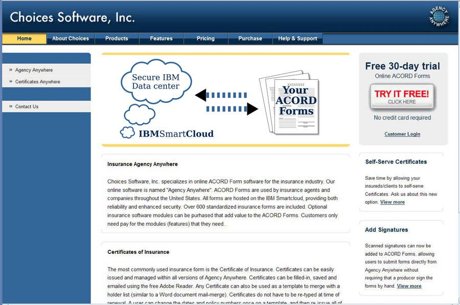 Inscrição nº                                         5                                      do Concurso para                                         Illustration to be shown front and center on Choices Software, Inc. website