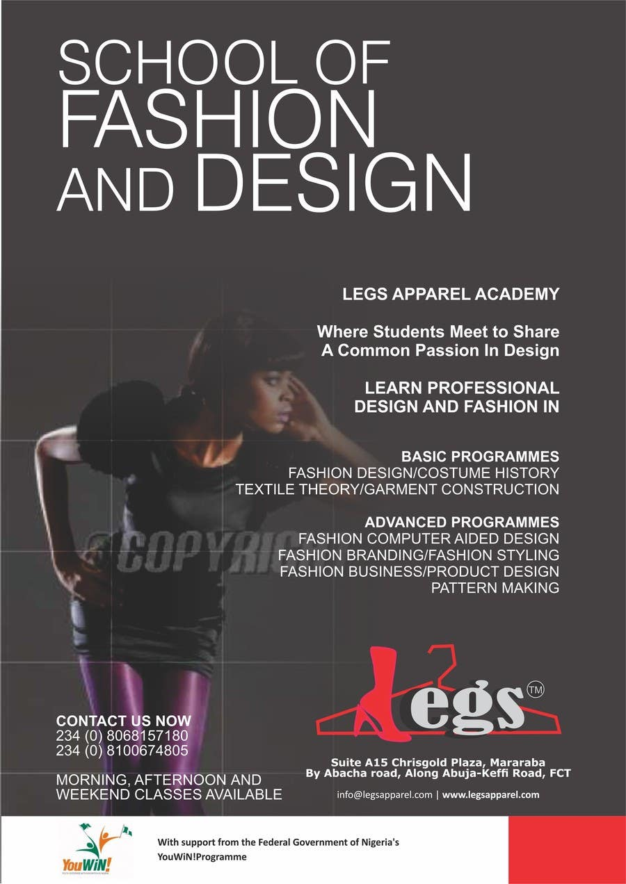 Design A Fashion School Catalog And Flyer For Legsapparel