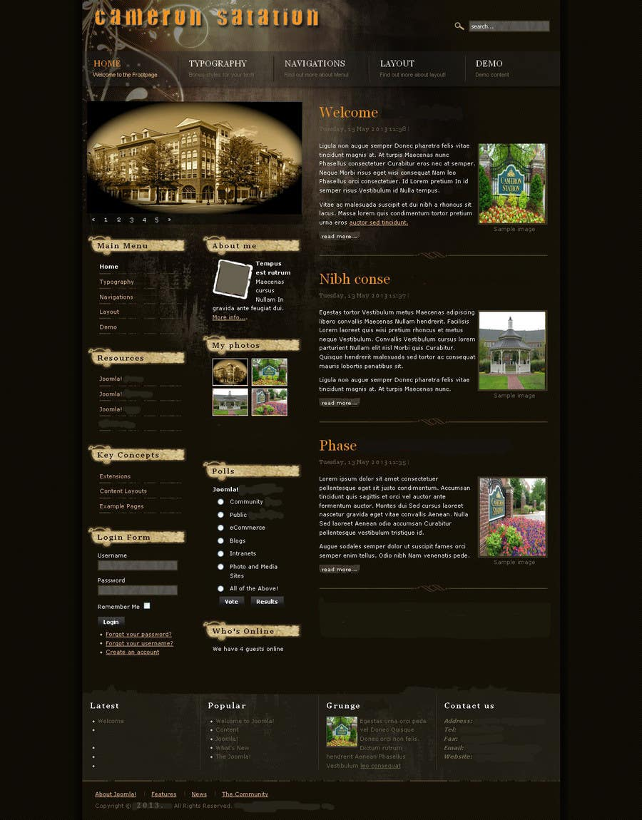 Contest Entry #11 for Create a Joomla 3.0 Template