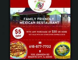 "Nro 23 kilpailuun Design Small Print Ad for Mexican Restaurant Ad (2.6"" x 2.6"") käyttäjältä riteshparmar79"