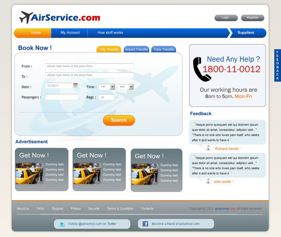 #1 for Website design for Airport Transfer by rkdesign4u