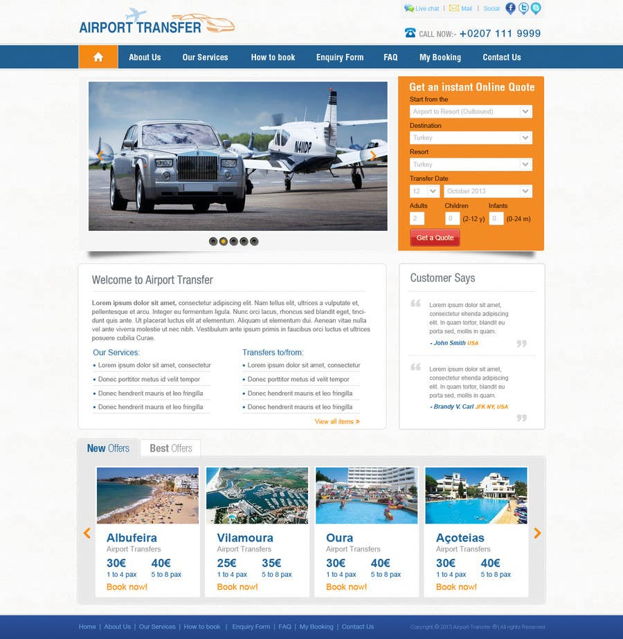 #7 for Website design for Airport Transfer by iNoesis
