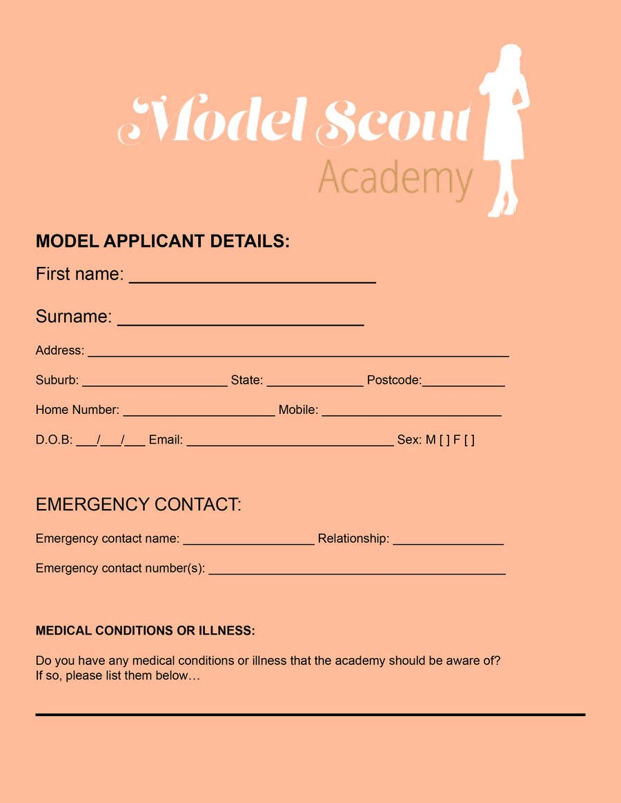 Entry #5 by itsr22 for Design application form | Freelancer