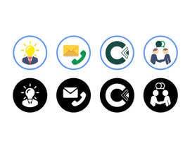 Nro 32 kilpailuun Design 4 Icons for our Contact us page käyttäjältä NikWB
