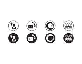 Nro 37 kilpailuun Design 4 Icons for our Contact us page käyttäjältä Rendra5