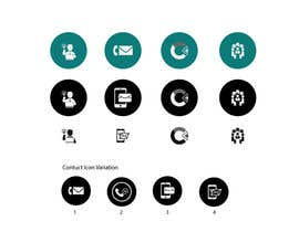 Nro 36 kilpailuun Design 4 Icons for our Contact us page käyttäjältä plaboneee123