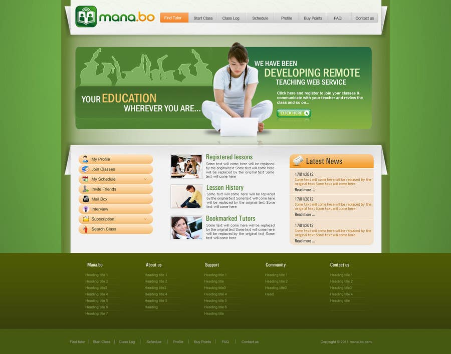 Contest Entry #                                        27                                      for                                         Website Design for mana.bo
