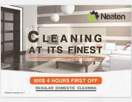 Nro 14 kilpailuun Design a Flyer for our Domestic Cleaning Promotion käyttäjältä Splunge