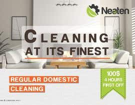 Nro 16 kilpailuun Design a Flyer for our Domestic Cleaning Promotion käyttäjältä Splunge