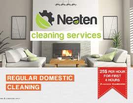 Nro 18 kilpailuun Design a Flyer for our Domestic Cleaning Promotion käyttäjältä Splunge