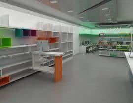Nro 11 kilpailuun 3D render for small stationery store layout käyttäjältä arqdavidurbaez