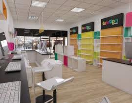 Nro 19 kilpailuun 3D render for small stationery store layout käyttäjältä salamonzsolt