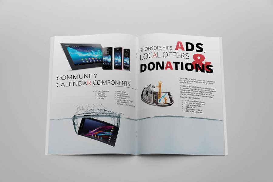 #28 for Design a Brochure for BOLD! Mobile Community Platform by Olywebart