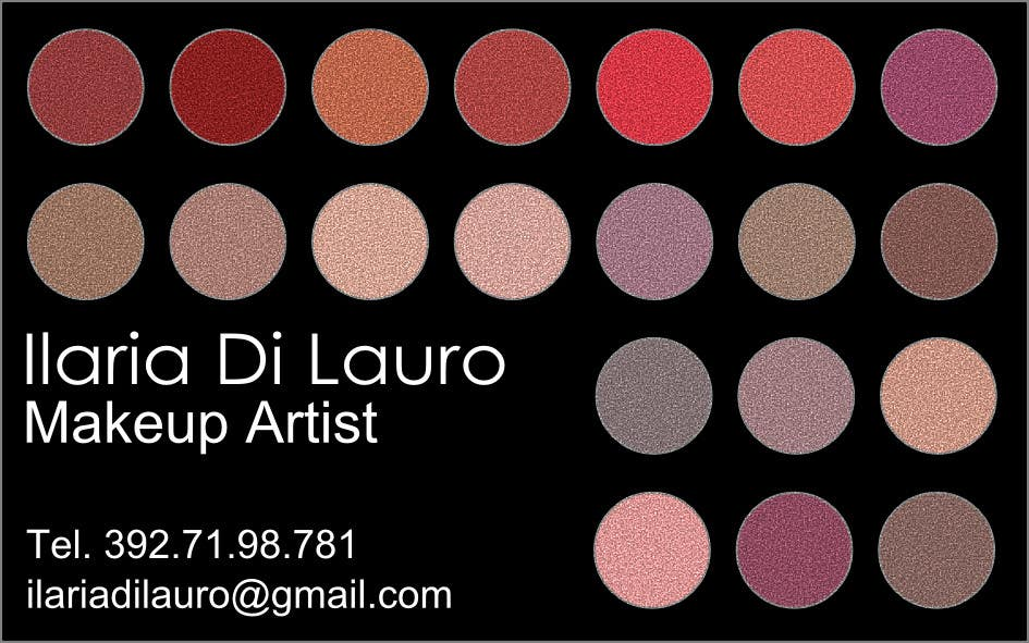 Inscrição nº                                         172                                      do Concurso para                                         Business Card Design for Ilaria Di Lauro - Make-up artist