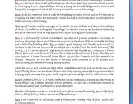 Nro 8 kilpailuun Short Professional Bio and an effective marketing letter to attract sponsors. käyttäjältä AnalystChicago