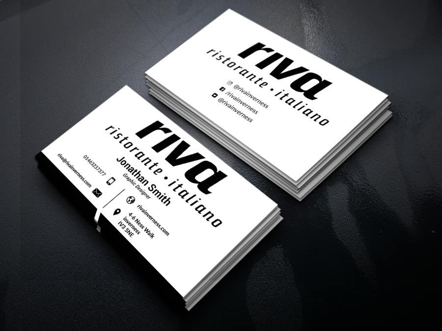 Kilpailutyö #5 kilpailussa Design a restaurant business card