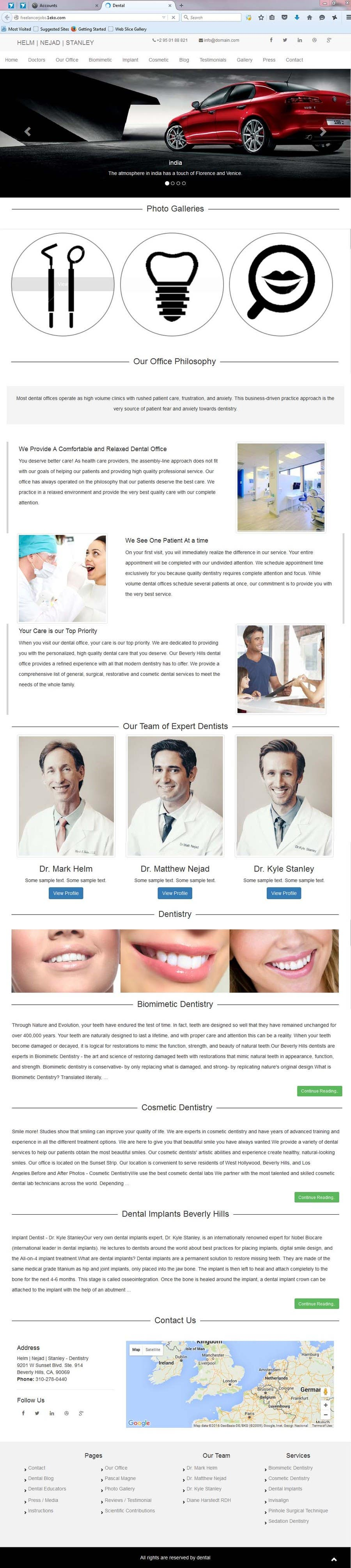 Entry #24 by iamsathyaseelan for High-end Dental Homepage